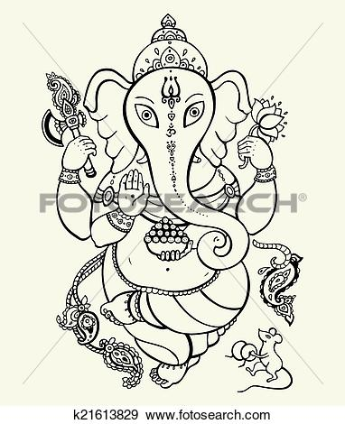 Clip Art of Lord Ganesha. k21613829.