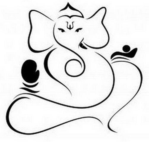Pin Ganesh Outline Art Pic 20.