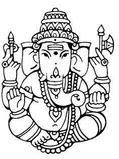 Ganesh Outline Clip Art in 2019.