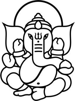 Ganesh Face Outline Drawing Ganesh face outline ganesh in.