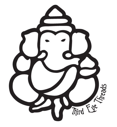 Lord Ganesh outline.