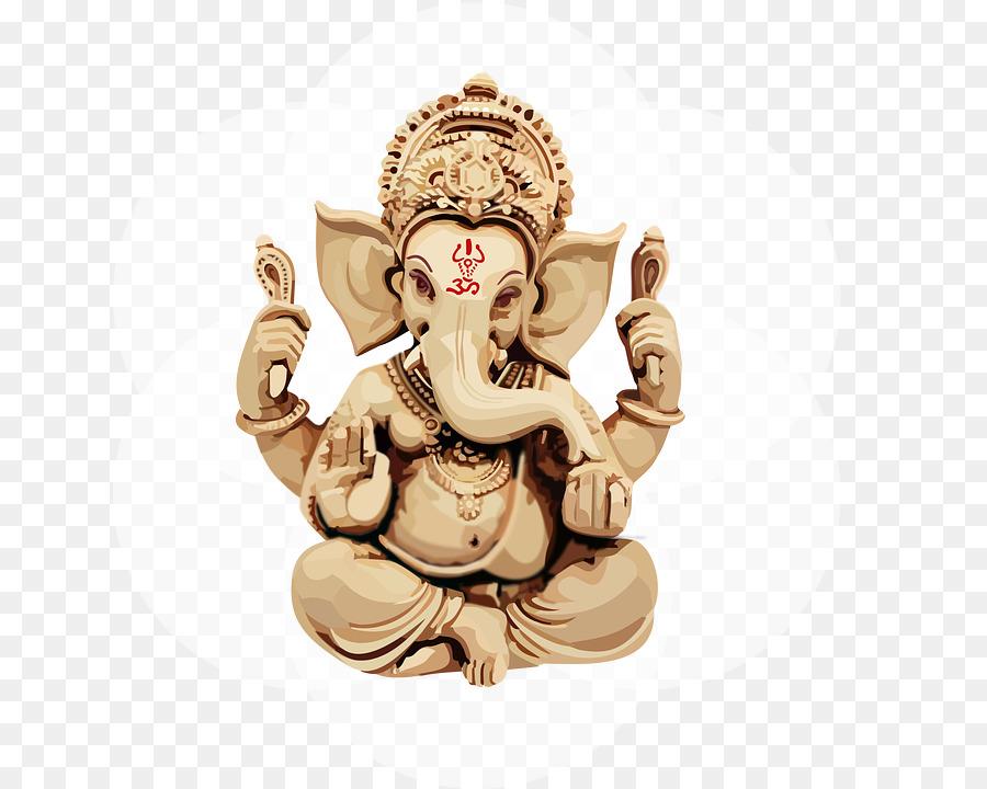 Ganesh Chaturthi Gold png download.