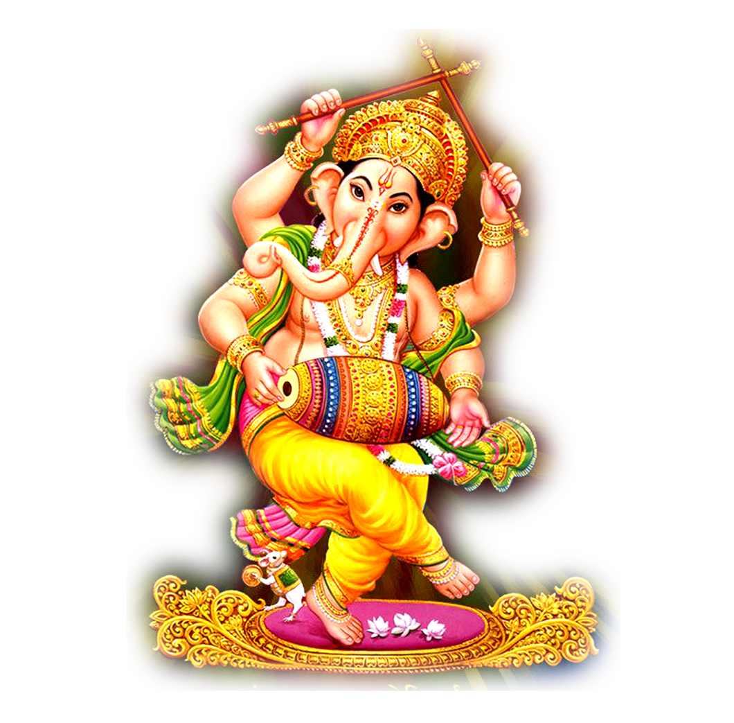 Lord Ganesha PNG Image File.