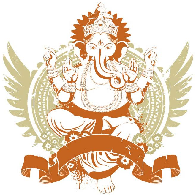 GANESHA VECTOR GRAPHICS.