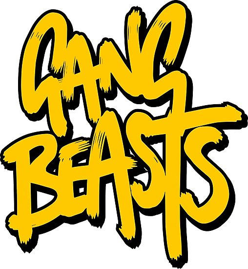 \'Gang Beasts Logo HD\' Photographic Print by maybeoffensive.