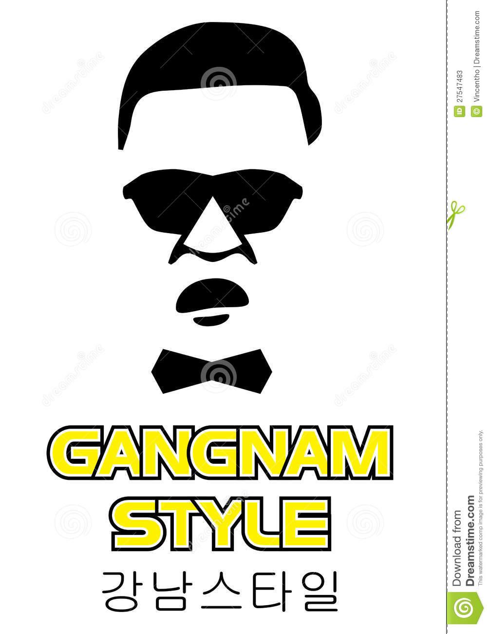 Oppa Gangnam Style Illustration Stock Photos.