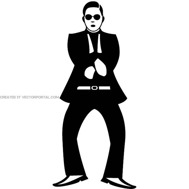 Free gangnam style clip art vectors.