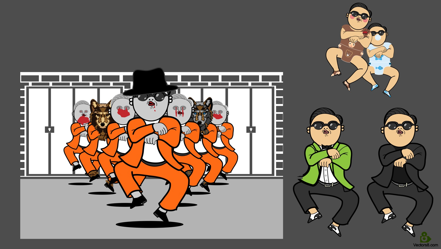PSY with Gangnam Style.