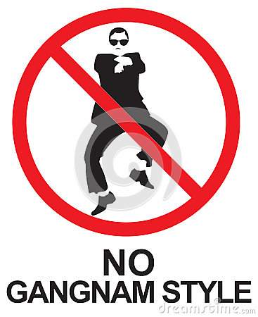 Gangnam Style Dance Stock Photo.