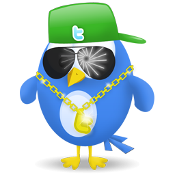 Twitter Gangsta Bird Icon, PNG ClipArt Image.