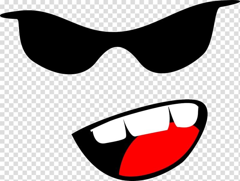 Gangster , glasses transparent background PNG clipart.