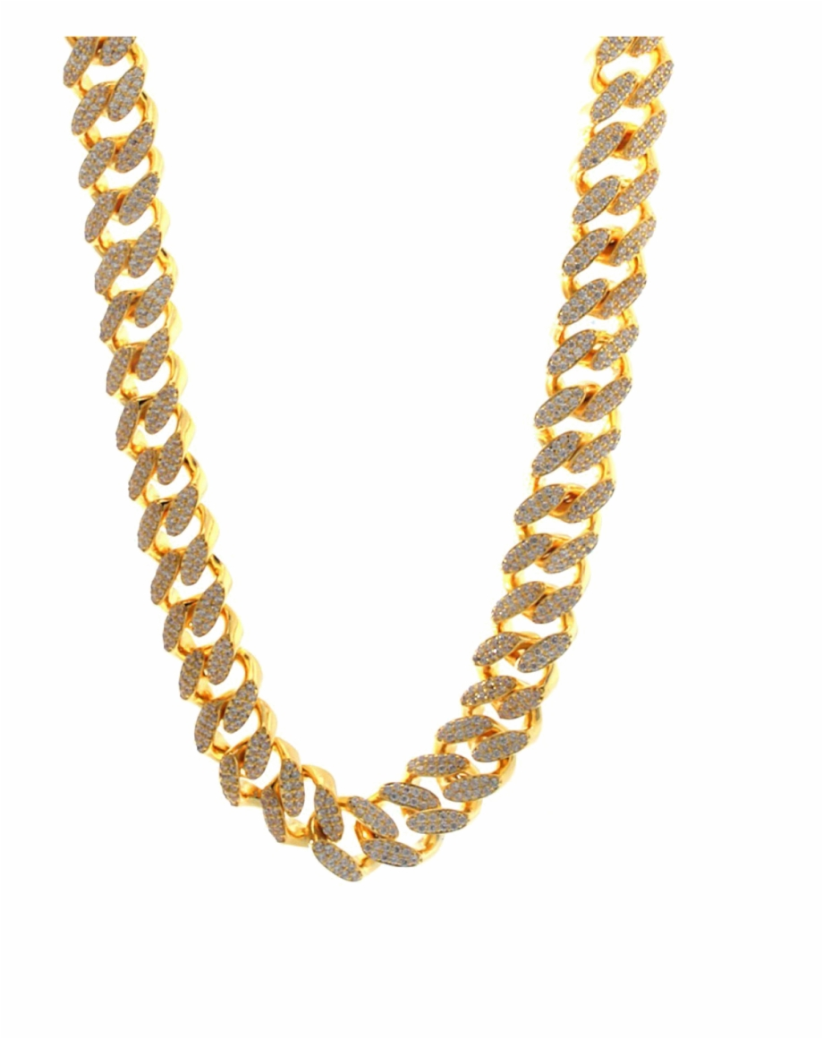 Pure Gold Chain Png Photo.