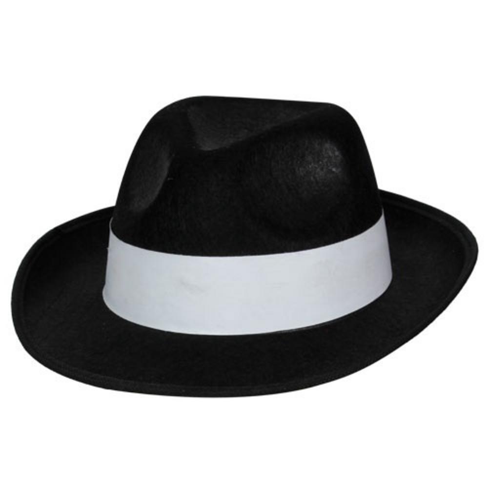 Black Gangster Hat.
