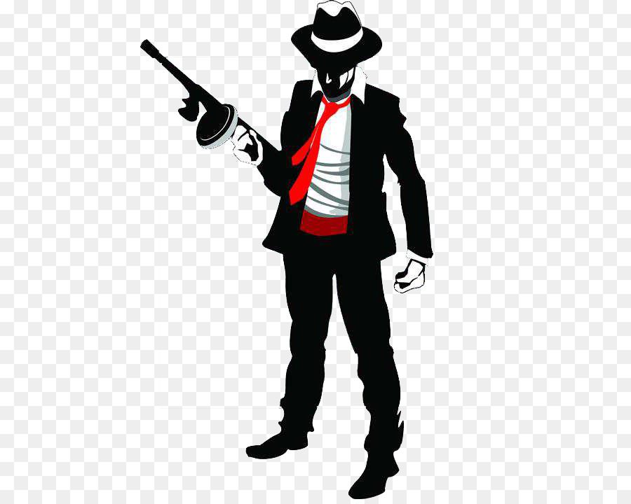 Gangster Silhouette png download.