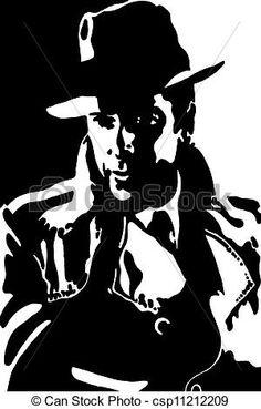 black n white clip art gangster.