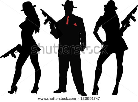 1920s Gangster Clipart.