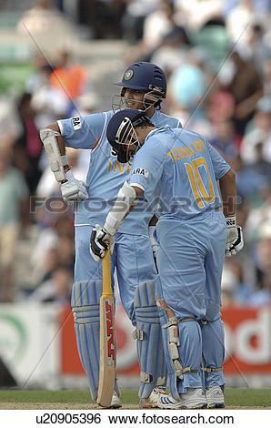 Stock Images of Sourav Ganguly and Sachin Tendulkar u20905396.