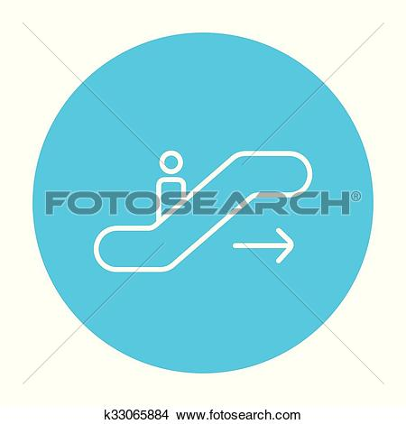 Clipart of Gangway of plane line icon. k33065884.