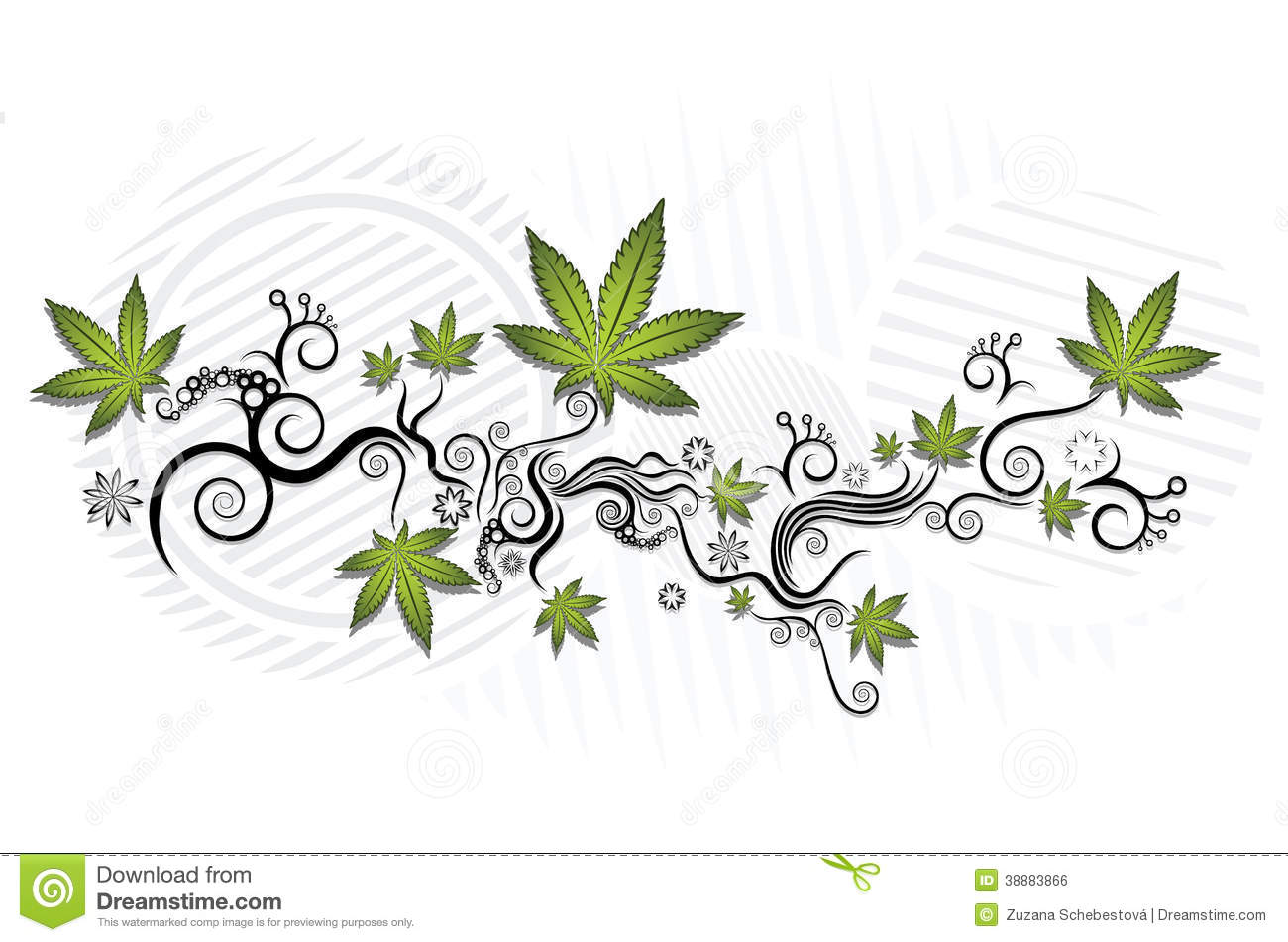 Ganja Stock Illustrations.