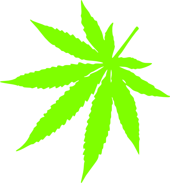 Ganja Leaf Hd Clipart.