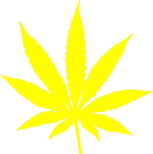 Cannabis Leaf Stars And Stripes Yellow Clip Art at Clker.com.