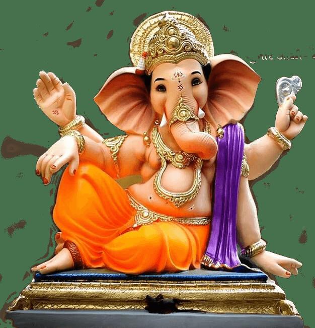 Ganpati Bappa Ganesh png transparent images.