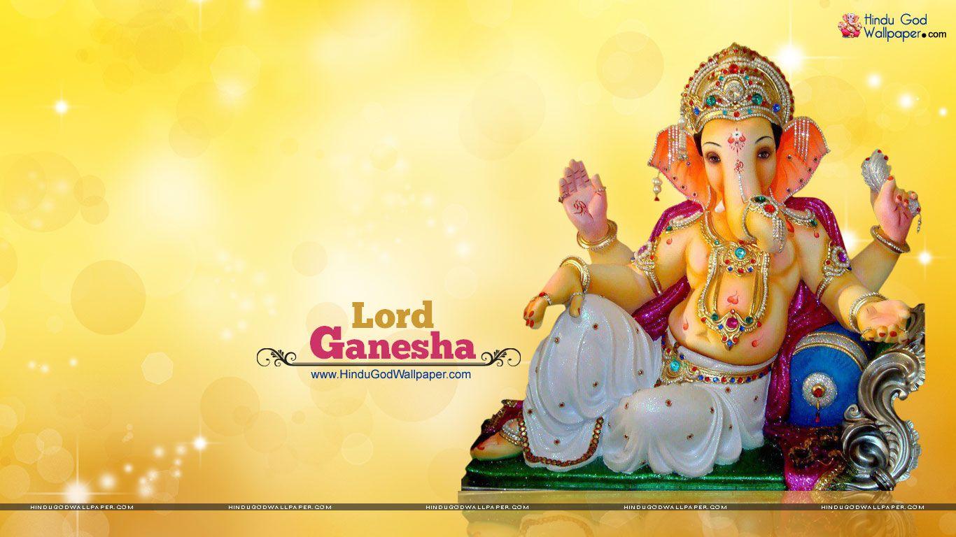 Beautiful Ganesh Murti HD Wallpaper Free Download.