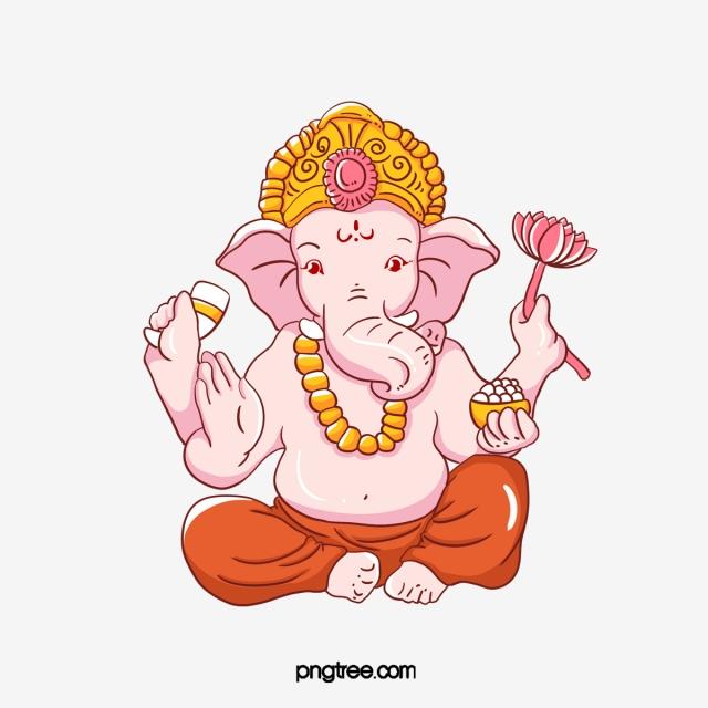 Illustration Of Ganesha Chaturthi, Ganesh, Genasha, Ganpati PNG.