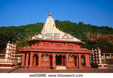 Stock Photography of View of Ganesh temple. Ganpatipule. District.