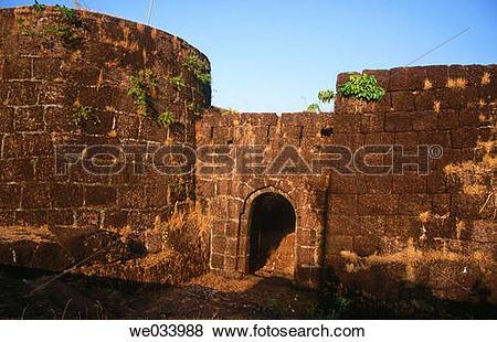 Pictures of Entrance of Viagarh fort near Ganpatipule. Maharashtra.