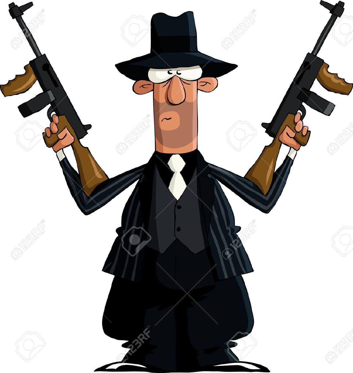 Mafia gangster clipart.