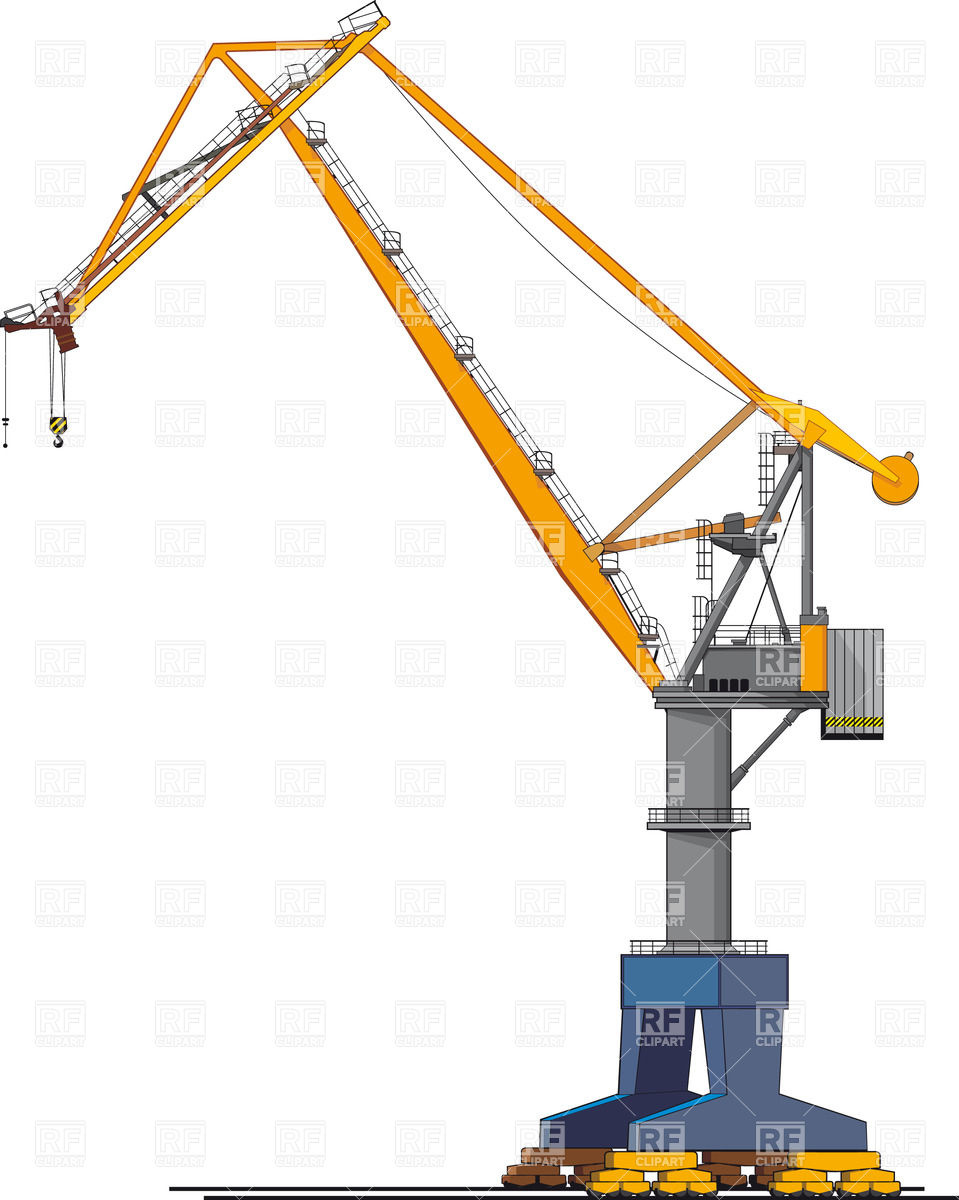 Mobile Gantry Crane Clip Art.