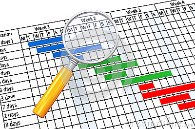 Gantt Chart Stock Illustrations.