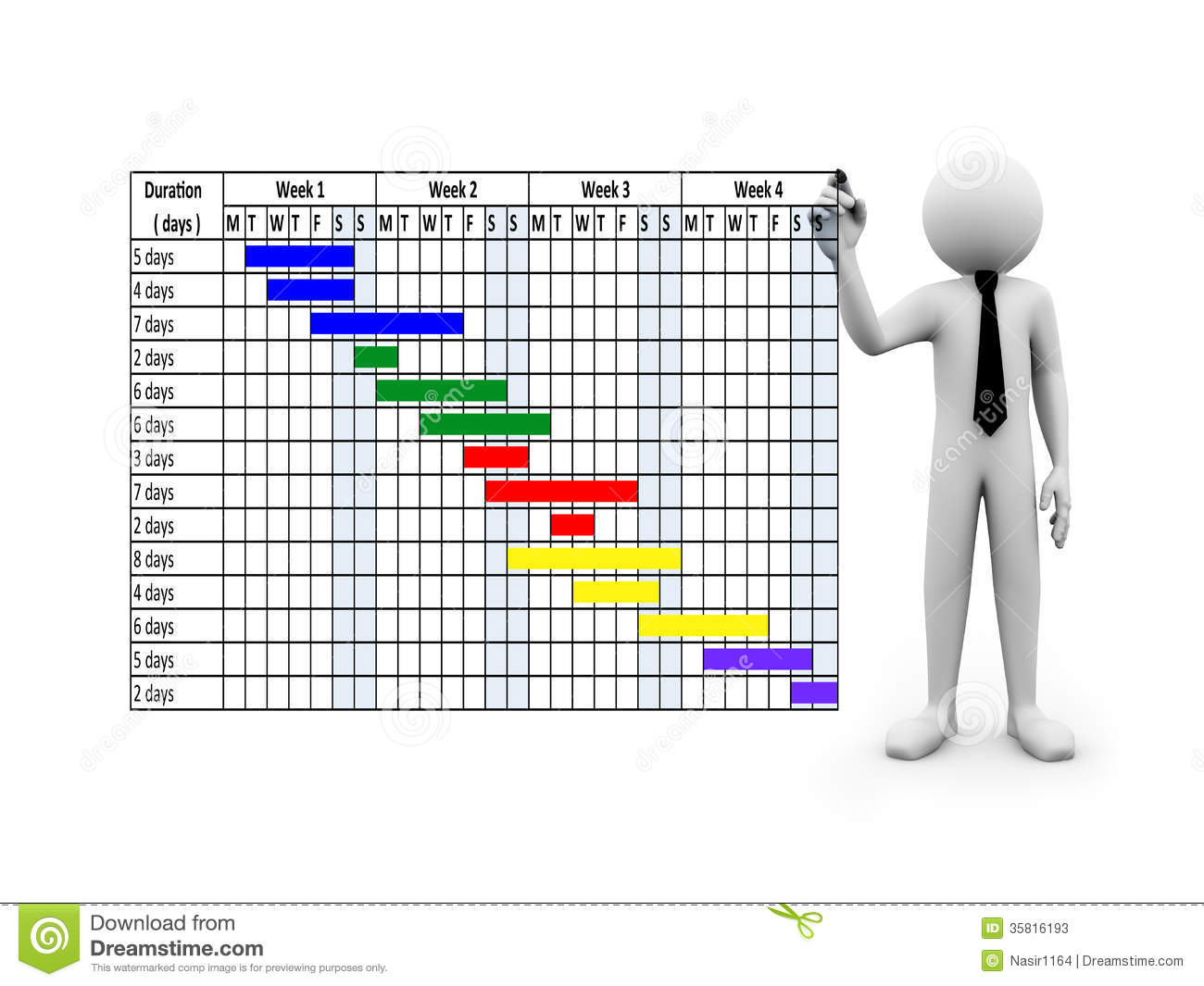 Project Schedule Clipart.