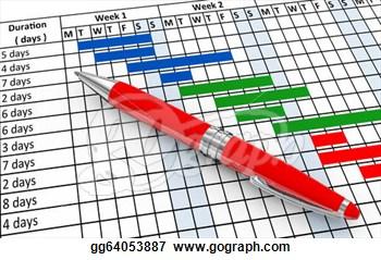 Gantt Chart Clipart.