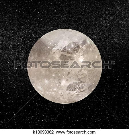 Clip Art of Ganymede planet.