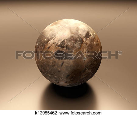 Clip Art of Jupitermoon Ganymede blank k13985462.