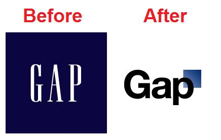 A Hole in the New GAP Logo.
