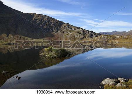 Stock Photo of Black Lake In The Gap Of Dunloe In Killarney.