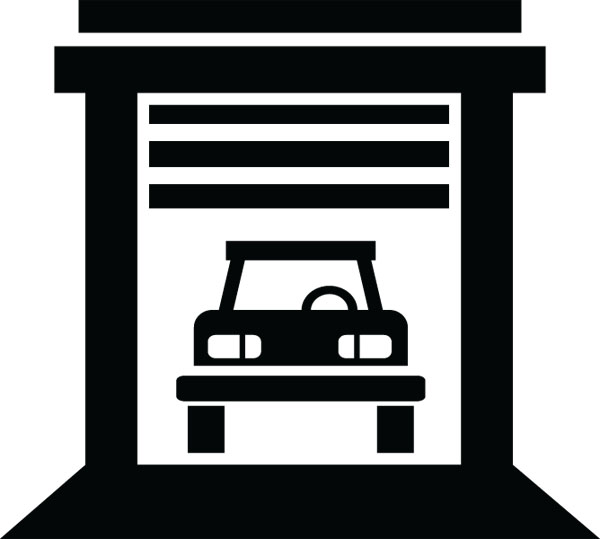 Car Garage Building Clip Art For Custom Products & Gifts.