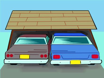 Car garage clipart.
