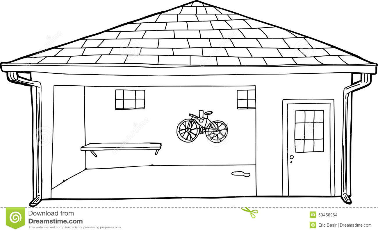 Garage Clipart Black And White.