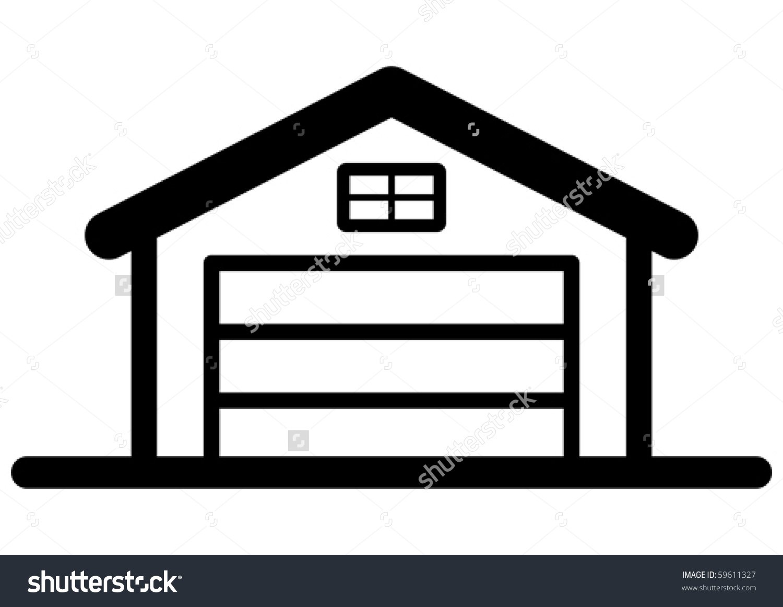 Garage Icon Stock Vector 59611327.