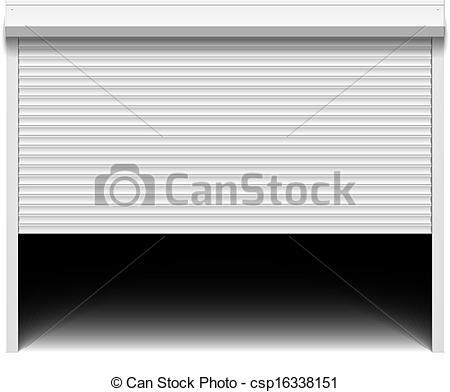 Clipart Vector of Roller shutter garage door csp16338151.