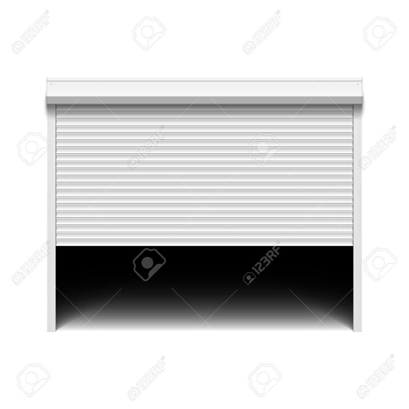 Roller shutter garage door.