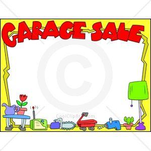 garage sale clip art free.