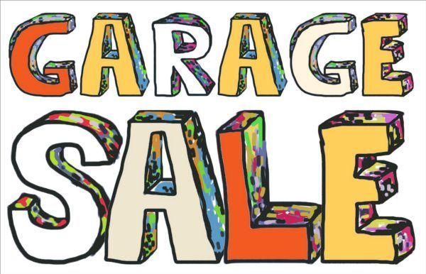 Continentalmunity garage sales quickly approaching clip art.