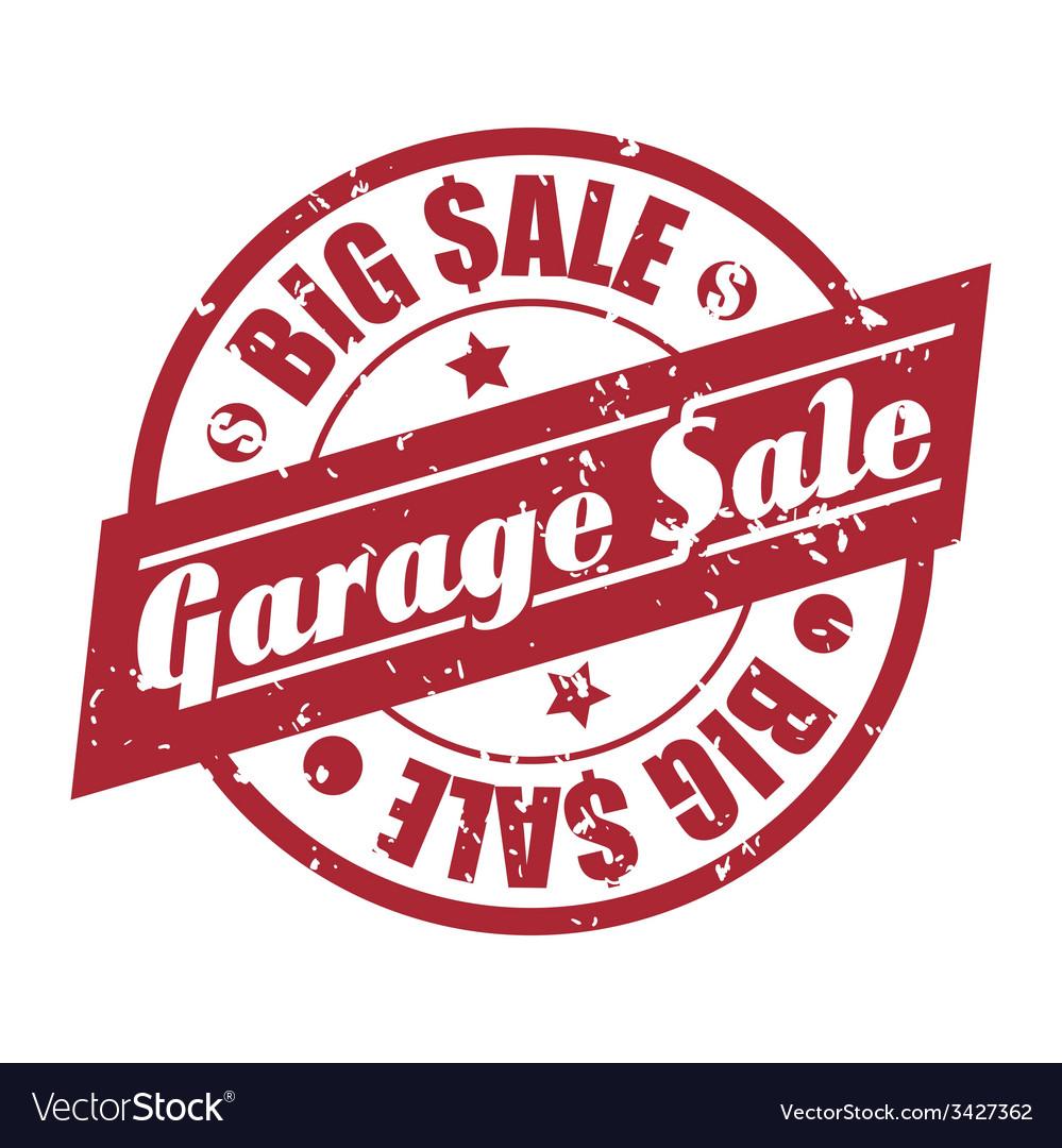 Garage sale design.
