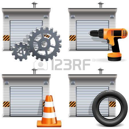 892 Garage Box Stock Vector Illustration And Royalty Free Garage.