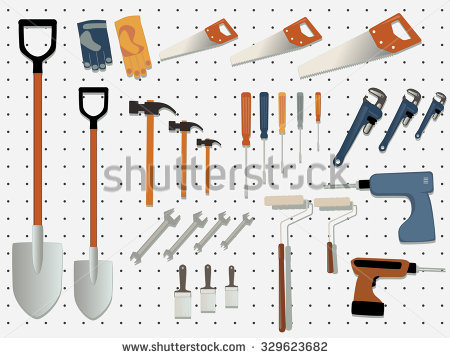 Garage Tools Wall Stock Vectors & Vector Clip Art.